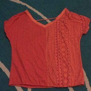 Prana v neck short sleeved shirt